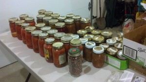 Table of preserved food 2012
