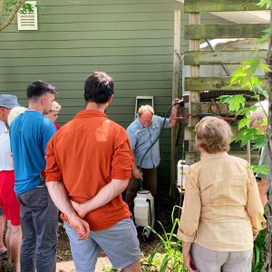 Community members attend a soil health workshop put on by local permaculturist Bill Wilson.