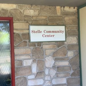 The Community Center is residents' social and organizational hub. Residents drop by for Monday night dinner, fundraiser events, celebrations, and updates about current goings-on in Stelle.